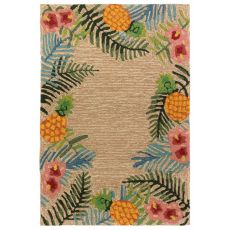 "Liora Manne Ravella Tropical Indoor/Outdoor Rug Neutral 24""X36"""