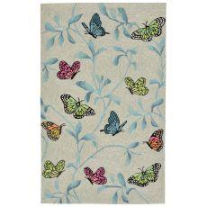 "Liora Manne Ravella Butterflies On Tree Indoor/Outdoor Rug - Green, 42"" By 66"""