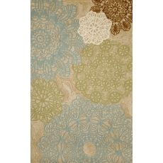 "Liora Manne Ravella Crochet Indoor/Outdoor Rug - Natural, 5' By 7'6"""