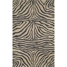 """Liora Manne Ravella Zebra Indoor/Outdoor Rug - Black, 8'3"""" By 11'6"""""""