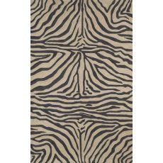 """Liora Manne Ravella Zebra Indoor/Outdoor Rug - Black, 5' By 7'6"""""""