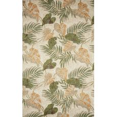 Liora Manne Ravella Tropical Leaf Indoor/Outdoor Rug - Natural, 5' by 7'6""