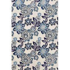 """Liora Manne Ravella Floral Indoor/Outdoor Rug - Blue, 42"""" By 66"""""""