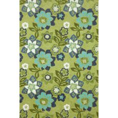 "Liora Manne Ravella Floral Indoor/Outdoor Rug - Green, 5' By 7'6"""
