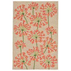 """Liora Manne Ravella Desert Lily Indoor/Outdoor Rug - Orange, 5' By 7'6"""""""