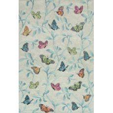 Liora Manne Ravella Butterflies On Tree Indoor/Outdoor Rug Green