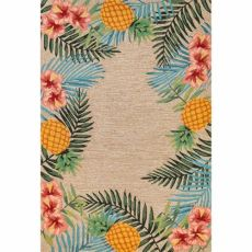 Liora Manne Ravella Tropical Indoor/Outdoor Rug Neutral 5'X7'6""