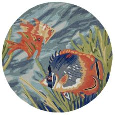 Tropical Fish 5ft Rd Indoor Rug