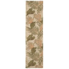 "Liora Manne Ravella Tropical Leaf Indoor/Outdoor Rug - Natural, 24"" by 8'"