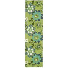 "Liora Manne Ravella Floral Indoor/Outdoor Rug - Green, 24"" By 8'"