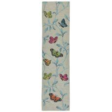 """Liora Manne Ravella Butterflies On Tree Indoor/Outdoor Rug Green 24""""X8'"""