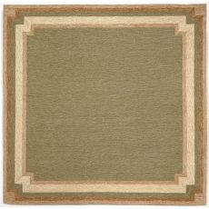 Liora Manne Ravella Border Indoor/Outdoor Rug - Green, 8' by 8'