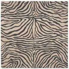 Liora Manne Ravella Zebra Indoor/Outdoor Rug - Black, 8' By 8'