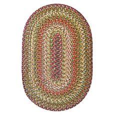 Homespice Decor 4' x 6' Oval Rainforest Ultra Durable Braided Rug