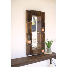 Repurposed Rectangle Brick Mold Mirror