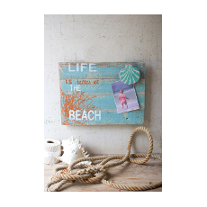 Recycled Wooden Photo Holder - Beach