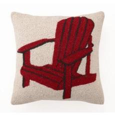 Red Adirondack Chair Hook Pillow
