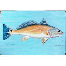 Red Drum Fish  Door Mat