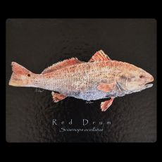 Red Fish Black Cutting Board