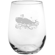 Whale 17 Oz. Stemless Wine Glass (set of 4)