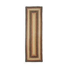"Homespice Decor 11"" x 36"" Table Runner Rect. Russett Jute Braided Accessories"
