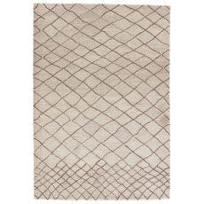 Modern Tribal Pattern Neutral/Brown Wool Area Rug ( 8x11)