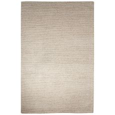 Solids Solids & Heather Pattern Tan Wool And Viscose Area Rug (8X10)