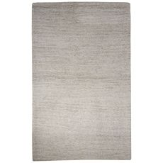 Solids Solids & Heather Pattern Ivory/White Wool And Viscose Area Rug (8X10)