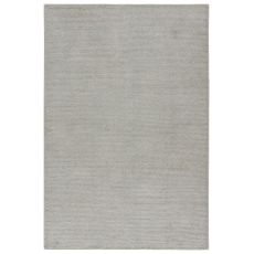 Youth Geometric Pattern Gray/Silver Silk And Cotton Area Rug ( 8X11)