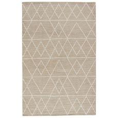 Geometric Pattern Silk And Cotton Satellite Area Rug