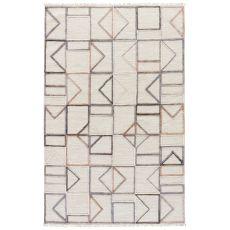 Geometric Pattern Jute And Cotton Satellite Area Rug