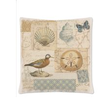 Shorebirds 18X18 Pillow, Oyster