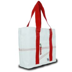 Newport Medium Tote - White And Red