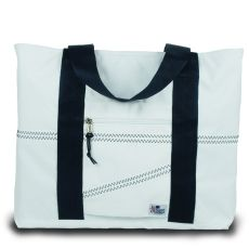 Newport Large Tote - White And Blue