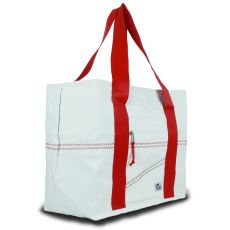 Newport Large Tote - White And Red