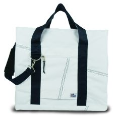 Newport Xl Tote - White And Blue