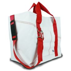 Newport Xl Tote - White And Red