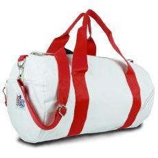 Newport Medium Round Duffel - White And Red