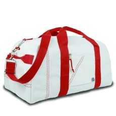 Newport Large Square Duffel - White And Red
