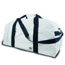 Newport Xl Square Duffel - White And Blue