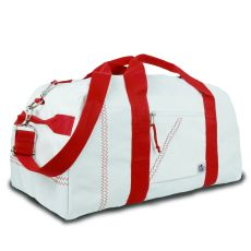 Newport Xl Square Duffel - White And Red