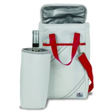 Newport Insulated 2-Bottle Wine Tote - White And Red