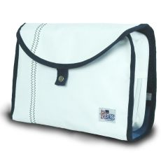 Newport Hanging Toiletry Kit - White And Blue