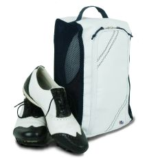 Newport Shoe Bag - White And Blue