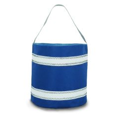 Nautical Stripe Bucket Bag - Blue And White