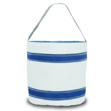 Nautical Stripe Bucket Bag - White And Blue