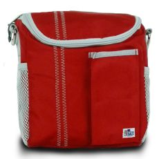 Chesapeake Insulated Lunch Bag - Red And Gray