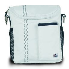 Chesapeake Insulated Lunch Bag - White And Blue