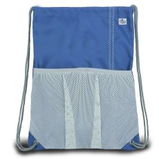 Chesapeake Drawstring Backpack - Blue And Gray