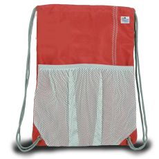 Chesapeake Drawstring Backpack - Red And Gray